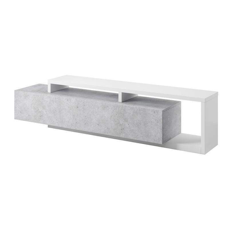 Komoda RTV Bota 40 biały mat / beton colorado Helvetia Wieruszów
