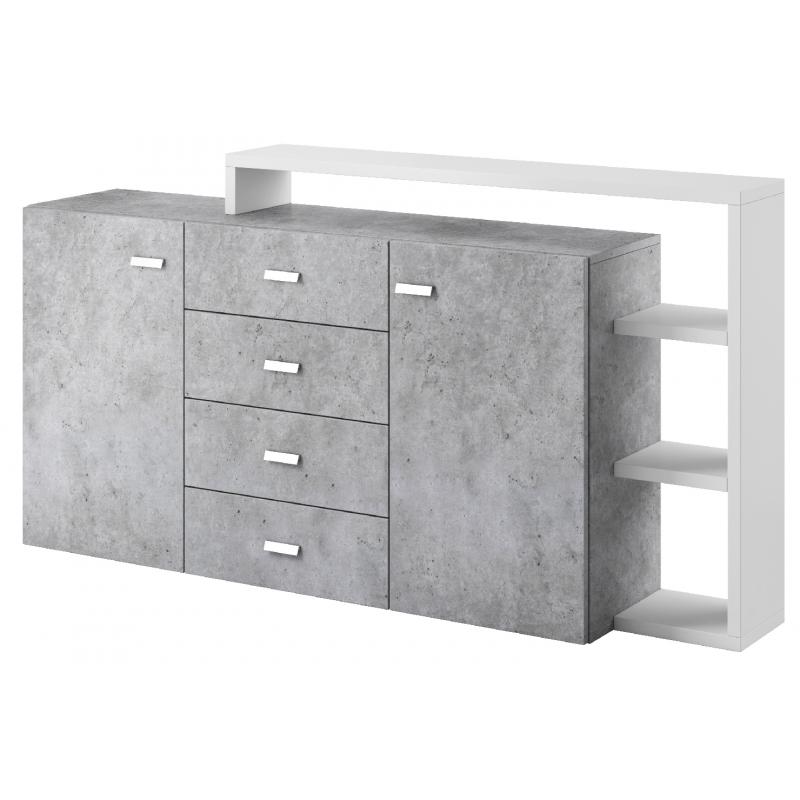 Komoda 2 drzwiowa Bota 27 biały mat / beton colorado Helvetia Wieruszów