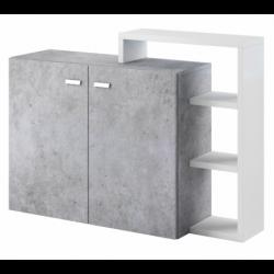 Komoda 2 drzwiowa Bota  28 biały mat / beton colorado Helvetia Wieruszów