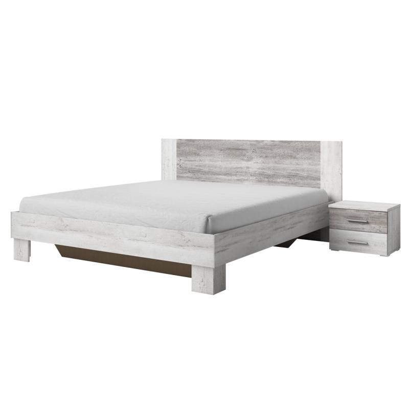 Łóżko dwuosobowe ze stolikami nocnymi VERA 52 (180cm) Helvetia Wieruszów