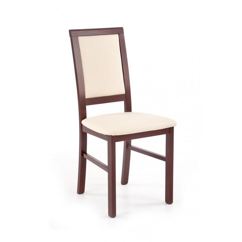 SYLWEK1 BIS krzesło ciemny orzech / CAYENNE 1112
