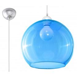 Lampa Wisząca BALL Błękitna