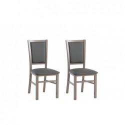 Krzesła GLABRA komplet 2 szt. dąb/szary Forte