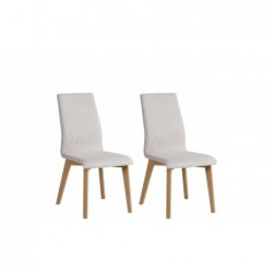 Krzesła MYRTOS komplet 2 szt. buk/szary Forte