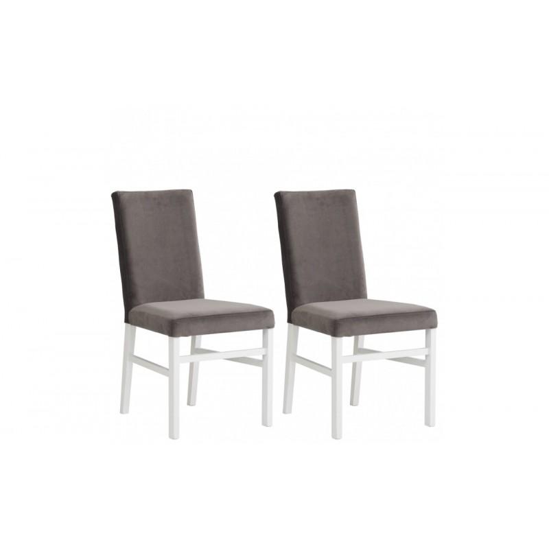 Krzesła KARNATAKA komplet 2 szt. biały/szary Forte