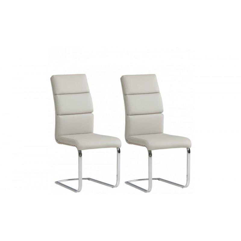 Krzesła BANGALORE komplet 2 szt. popielaty Forte
