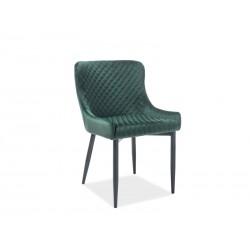 Krzesło Colin B Velvet Czarny Stelaż/Zielony Bluvel78 Signal