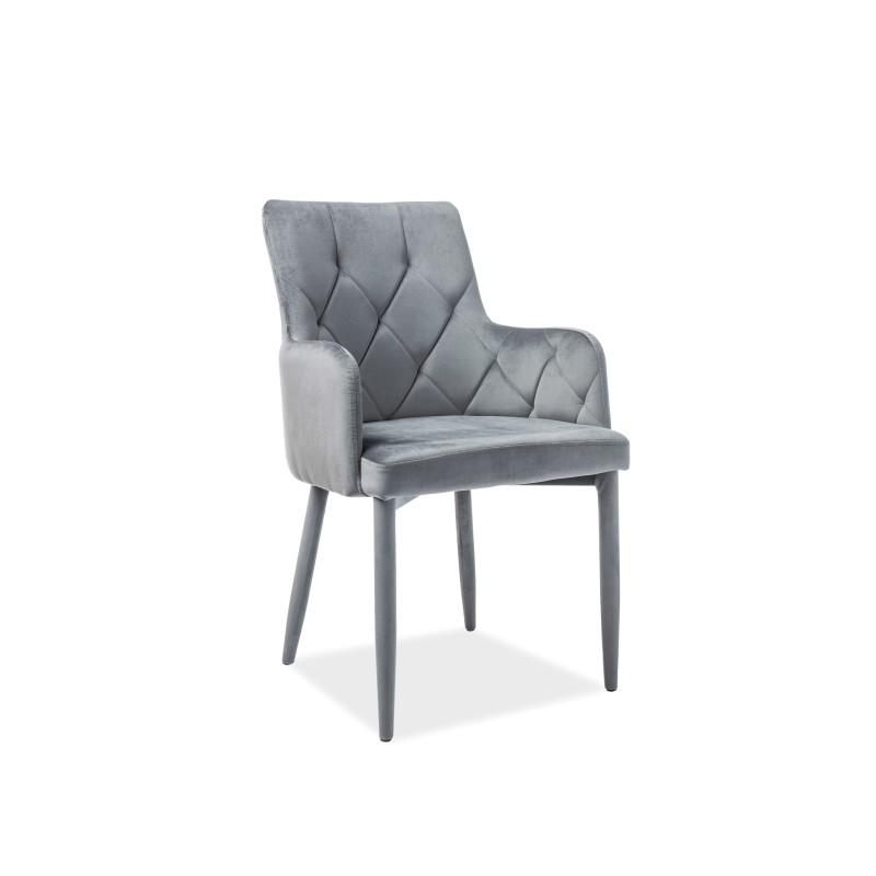 Krzesło Ricardo Velvet Szary Bluvel14 Signal