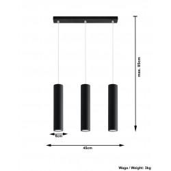 Lampa Wisząca LAGOS 3 Czarny