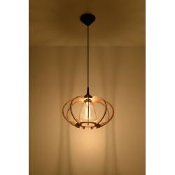 Lampa Wisząca MANDELINO Naturalne Drewno