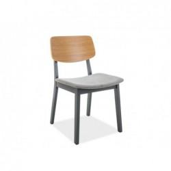 Krzesło Benito Grafit/Dąb/Szary Tap.112