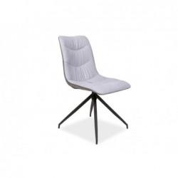 Krzesło Malus Czarny Stelaż/Szary Tap.51