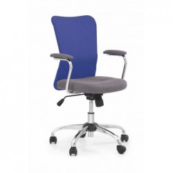 ANDY fotel młodzieżowy popielaty / niebieski