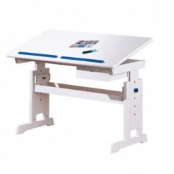 BARU biurko biało-różowo-niebieskie