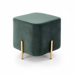 CORNO pufa ciemny zielony / złoty
