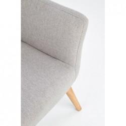COTTO fotel wypoczynkowy jasny popiel