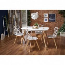 Stół DAVID biały/buk Halmar