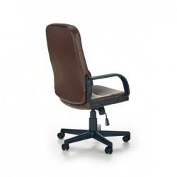 DENZEL fotel pracowniczy ciemny brąz