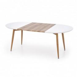 EDWARD stół rozkładany dąb miodowy / biały