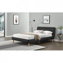 ELANDA 140 cm łóżko ciemny popiel