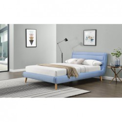 ELANDA 160 cm łóżko niebieskie