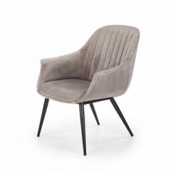 ELEGANCE fotel wypoczynkowy tapicerka - popielaty, nogi - czarny
