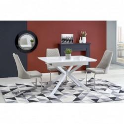 HARPER stół rozkładany blat - super biały, nogi - biały