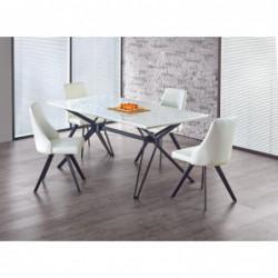 PASCAL stół biało - czarny