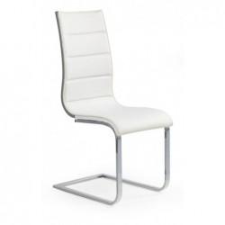 K104 krzesło biały/popiel ekoskóra