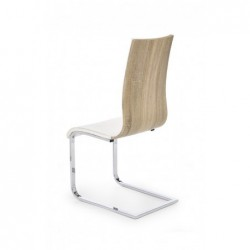K104 krzesło biały/sonoma ekoskóra