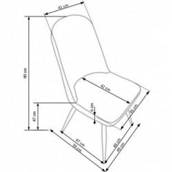 K214 krzesło ciemny kremowy / czereśnia antyczna III