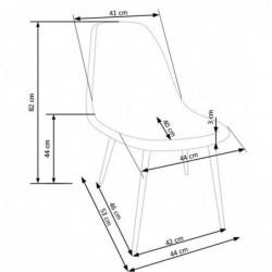 K220 krzesło tapicerka wielobarwny, nogi - dąb miodowy