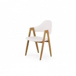 K247 krzesło biały-dąb miodowy