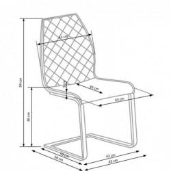 K265 krzesło czarny / brązowy / dąb miodowy