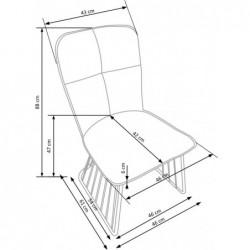 K269 krzesło jasny brąz / czarny
