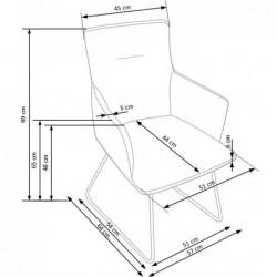 K271 krzesło ciemny popiel / jasny popiel
