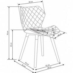 K277 krzesło biało / niebieskie