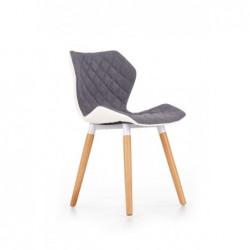 K277 krzesło biało / popiel