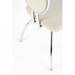 K297 krzesło jasny popiel / chrom