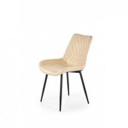 K313 krzesło nogi - czarne, tapicerka - beżowa