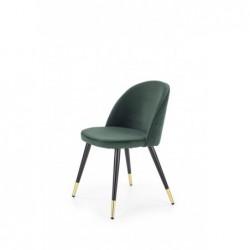 K315 krzesło nogi - czarny / złoty, tapicerka - c. zielony