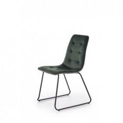 K321 krzesło stelaż - czarny, tapicerka - ciemny zielony / popielaty