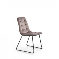 K321 krzesło stelaż - czarny, tapicerka - popielaty / czarny