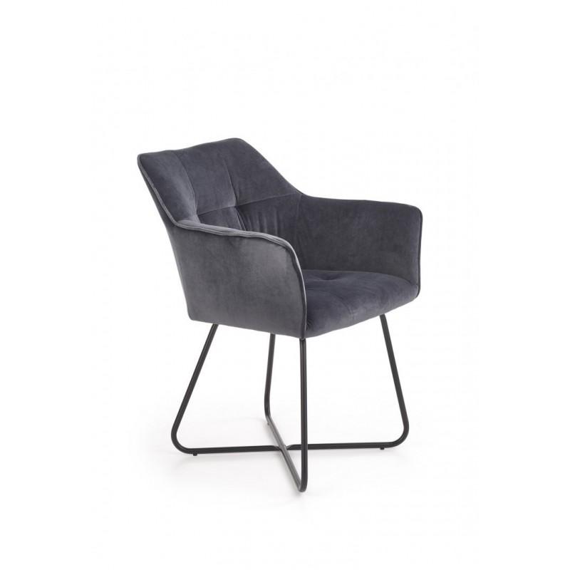K377 krzesło ciemny popiel