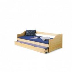 LAURA łóżko sosna