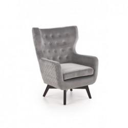 MARVEL fotel wypoczynkowy popielaty / czarny