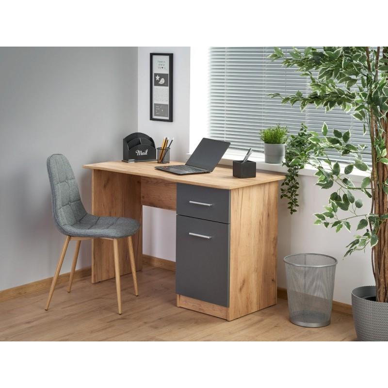 ELMO biurko dąb kraft / antracyt