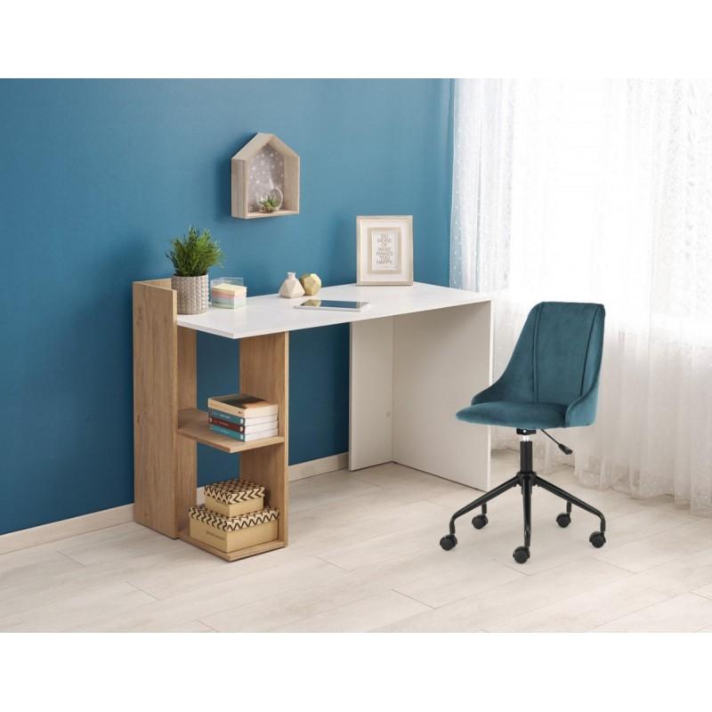 FINO biurko dąb złoty / biały