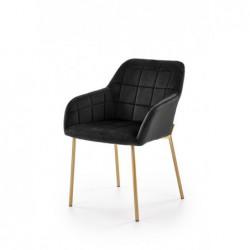 K306 krzesło złoty / czarny