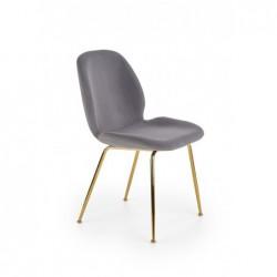 K381 krzesło popielaty / złoty
